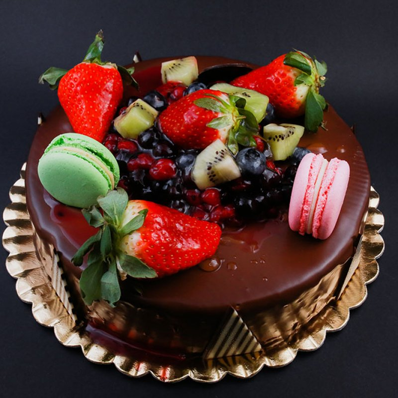 Tort mousse fruits chocolate
